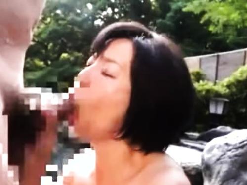 【NTR】美巨乳高齢熟女の近親相姦フェラ抜き