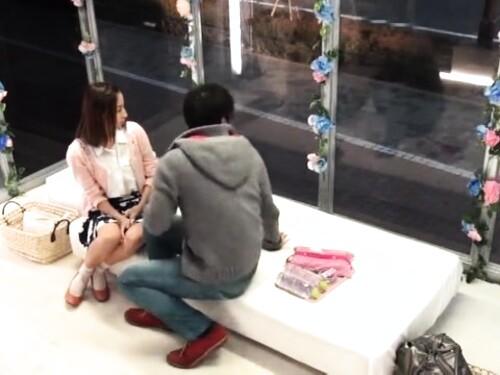 【マジックミラー号】スレンダー素人女子大生のエロ動画