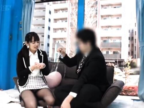 【MM号】黒パンストタイトスカート熟女のフェラ