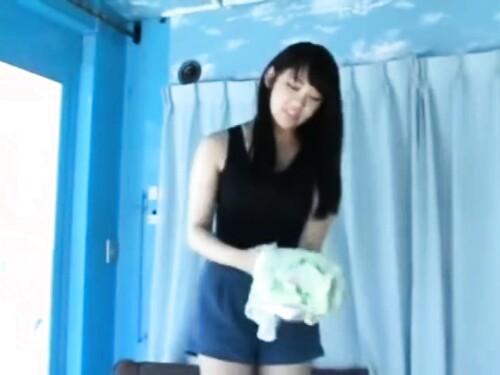 【マジックミラー号】美人神乳GカップJDの激ピストン