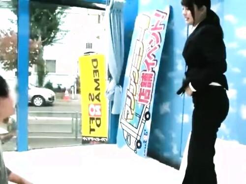 【マジックミラー号】スーツOLの盗撮フェラ